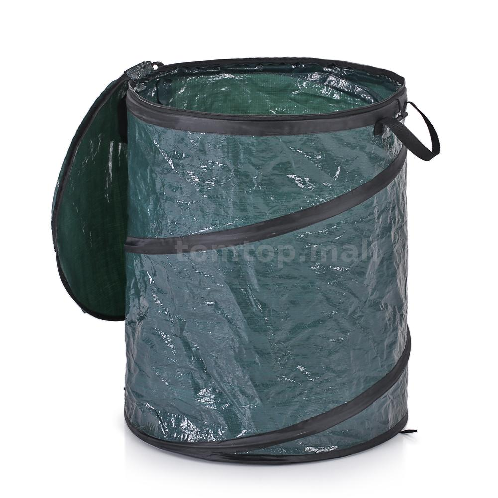 Portable collapsible trash can garbage storage bag collection bin garden t0w6 ebay - Collapsible trash bins ...
